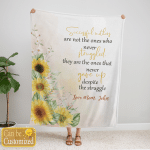 Family Blanket - Happy Mother's Day - Successful Mothers Are Not The Ones Who Never Struggled - Personalized Blanket