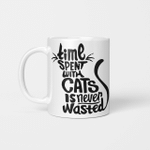 Time Spent With Cats Is Never Wasted - Funny Mug - Gift Idea For Pet Lovers
