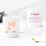 Personalized Two-sided Mug For Family - A Daughter Is One Of The Best Gifts The World Has To Give Me - Anniversary Gifts