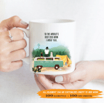Personalized Coffee Mug for Dog Lovers - To The World's Best Dog Mom, I Woof You - 2 Dogs