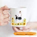 Personalized Coffee Mug for Dog Lovers - Sunflower Dog Mom