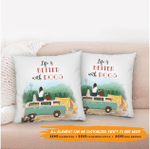 Personalized Throw Pillow - Life Is Better With Dogs - 2 Dogs - Personalized Gifts For Dog Lovers