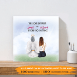 The Love Between Daughter & Mom Knows No Distances - Personalized Canvas Print - Memorial Wall Art