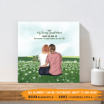 Thanks For Being An Awesome GrandMom In My Life 002 - Personalized Canvas Print - Personalized Gifts For Family - Mother's Day