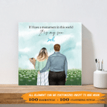 If I Have A Monument In This World, It Is My Son 002 - Personalized Canvas Print - Wall Art Decor - Personalized Gifts For Family
