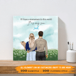 If I Have A Monument In This World, It Is My Son 001 - Personalized Canvas Print - Wall Art Decor - Personalized Gifts For Family