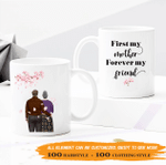 Personalized Two-sided Mug For Mom - First My Mom, Forever My Friend 001 - Personalized Gifts For Family
