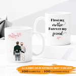 Personalized Two-sided Mug For Mom - First My Mom, Forever My Friend 002 - Personalized Gifts For Family