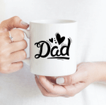 Dad Heart - Funny Mug - Gift Idea For Father's Day