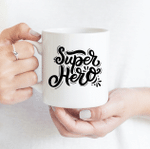 Super Hero Dad - Funny Mug - Gift Idea For Father's Day
