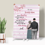 Personalized Blanket - A Mom Like You Is The Sweetest Gift Happy Mother's Day 001 - Personalized Gifts For Family