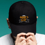 Daddy 's Girl - Brushed Twill Unstructured Dad Cap - Gift Idea For Father's Day