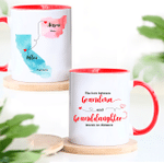 The Love Between Grandma & Granddaughter Knows No Distance - Personalized Two-sided Mug