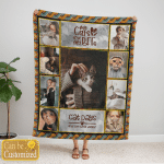 Me and My Cats - Personalized Blanket - Cozy Fleece Blanket - Personalized Gift For Cat Lovers