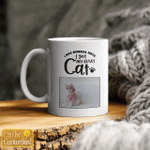 Custom Photo Mug - I Was Normal Until I Got My First Cat - Personalized Coffee Mug for Cat Lovers