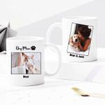 Custom Photo Mug Dog Mom - Personalized Two-sided Mug for Dog Lovers