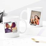 Custom Photo Mug - Best Friend, First Photo Together - Personalized Two-sided Mug for Buddies