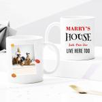 Custom Photo Mug - Pets' House - Personalized Two-sided Mug for Pet Lovers