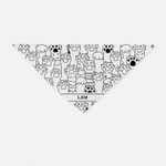 Dog Bandana Pattern 004 - Personalized Bandana - Personalized Gift For Dog Lovers