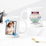 Daddy, I Love You More Than The Stars In The Sky - Custom Photo Mug - Personalized Two-sided Mug for Family