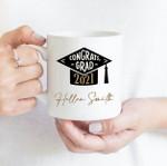 Coffee Mug - Custom Name 001 - Gift Ideas For Class of 2021 Graduation