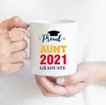 Coffee Mug - Proud Aunt - Gift Ideas For Class of 2021 Graduation - Family Matching Mug
