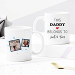 Custom Photo Mug - This Daddy Belongs To - Personalized Two-sided Mug For Dad