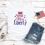 Little Miss Liberty, Happy 4th of July T-Shirt, American Flag, Celebration July 4th, Merica Unisex Shirt