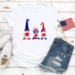 Three Funny Gnomes T-shirt American Flag Shirt 4th Of July Gift America Freedom Independence Day
