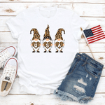 Three Cheetah Gnomes T-shirt American Flag Shirt 4th Of July Gift America Freedom Independence Day Unisex T-Shirt