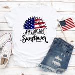 American Sunflower T-Shirt, American Flag, 4th of July Shirt, Merica Unisex Shirt