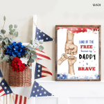 Veteran Family, Fourth Of July Poster, American Pride, Freedom, American Flag, Patriotism, Bravery, Independence Day Poster