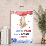 Gift For Veteran Husband, Veteran Couple, Fourth Of July Poster, Independence Day, American Pride, Freedom, American Flag, Patriotism, Bravery
