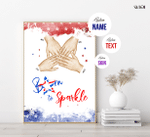Born To Sparkle, American Dude, Fourth Of July Poster, Independence Day, American Pride, Patriotism, Bravery, Gift For Veteran Friends
