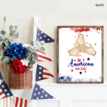 All American Dude, Fourth Of July Poster, Independence Day, American Pride, Patriotism, Bravery, Gift For Veteran Friends