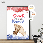 Proud To Be An American Claws & Paws, Fourth Of July Poster For Furry Friends, Pet Lovers, American Pride, Patriotism, Wall Art Home Decor
