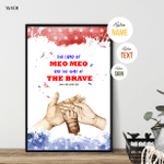 The Land Of Claws & Paws, Fourth Of July Poster For Furry Friends, Pet Lovers, American Pride, Patriotism, Wall Art Home Decor