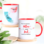 Personalized Mug, Couple Gift, Long Distance Relationship Gift for Boyfriend Girlfriend