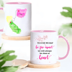 Personalized Mug, Family Gift, Gift For Friends, Though We May Be Far Apart, We Will Always Be Close At Heart