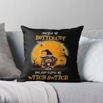 Buckle Up Buttercup, You Just Flipped My Witch Switch, Halloween Pillow, Personalized Dog Lovers Pillow, Halloween Gift For Dog Owners