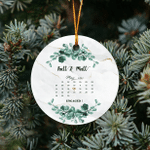 Christmas Ornament, Personalized Couple Ornament, Save The Date, Wedding Gift, Engagement Gift