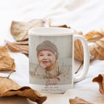 Personalized Coffee Mug, Baby Photo Mug, Fall In Love, Personalized Two-sided Mug, Gift for family, Housewarming Gift