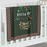 Custom Christmas Blanket, Personalized Blanket, Baby and Adult, Personalized Gift For Family, Christmas Gift