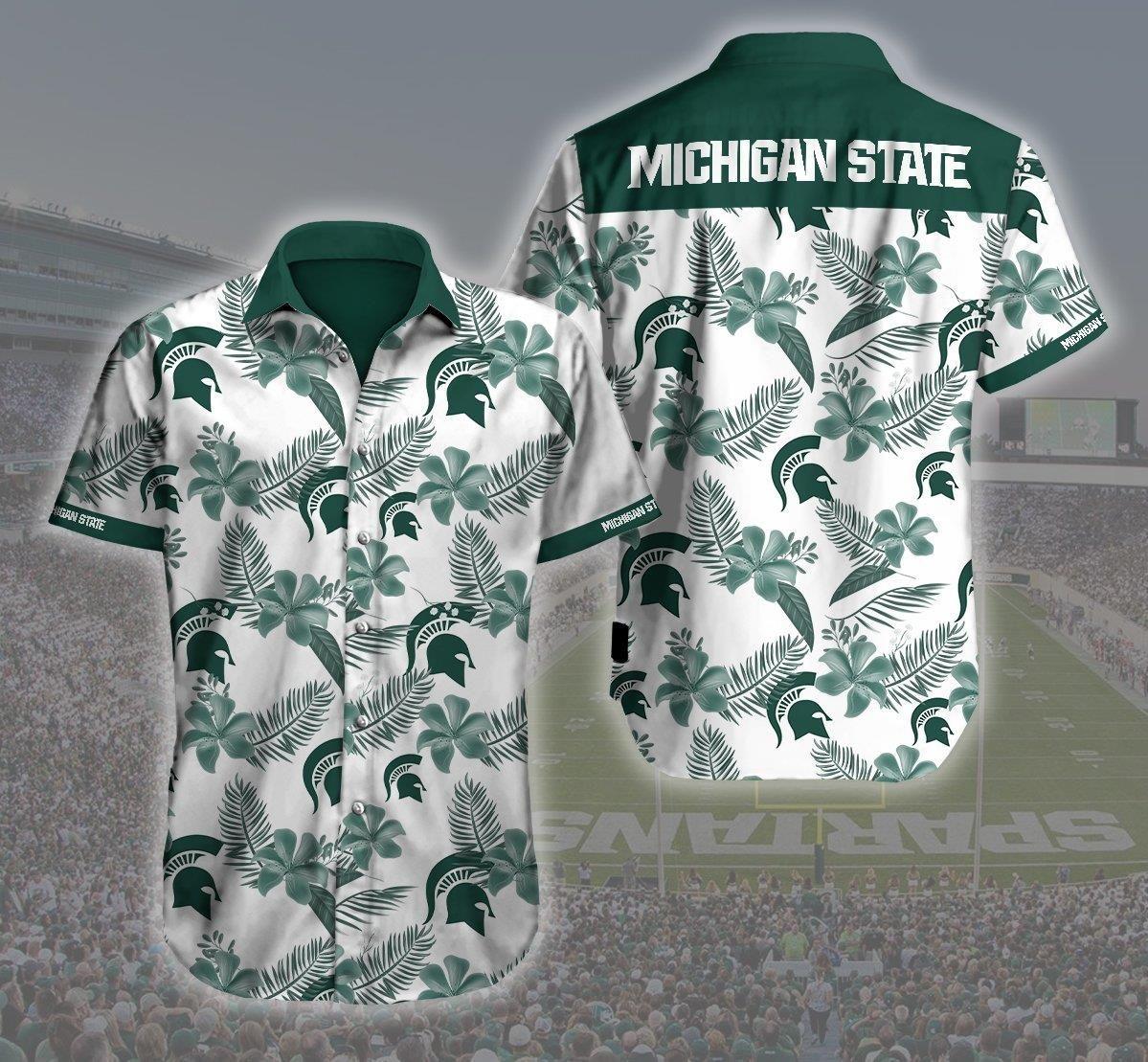 Michigan State 3d Logo Hawaii Shirt Summer