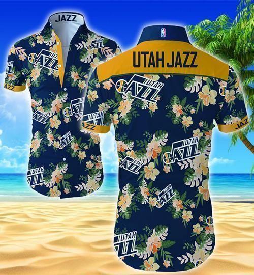 Utah Jazz Hawaii Fit Body Shirt