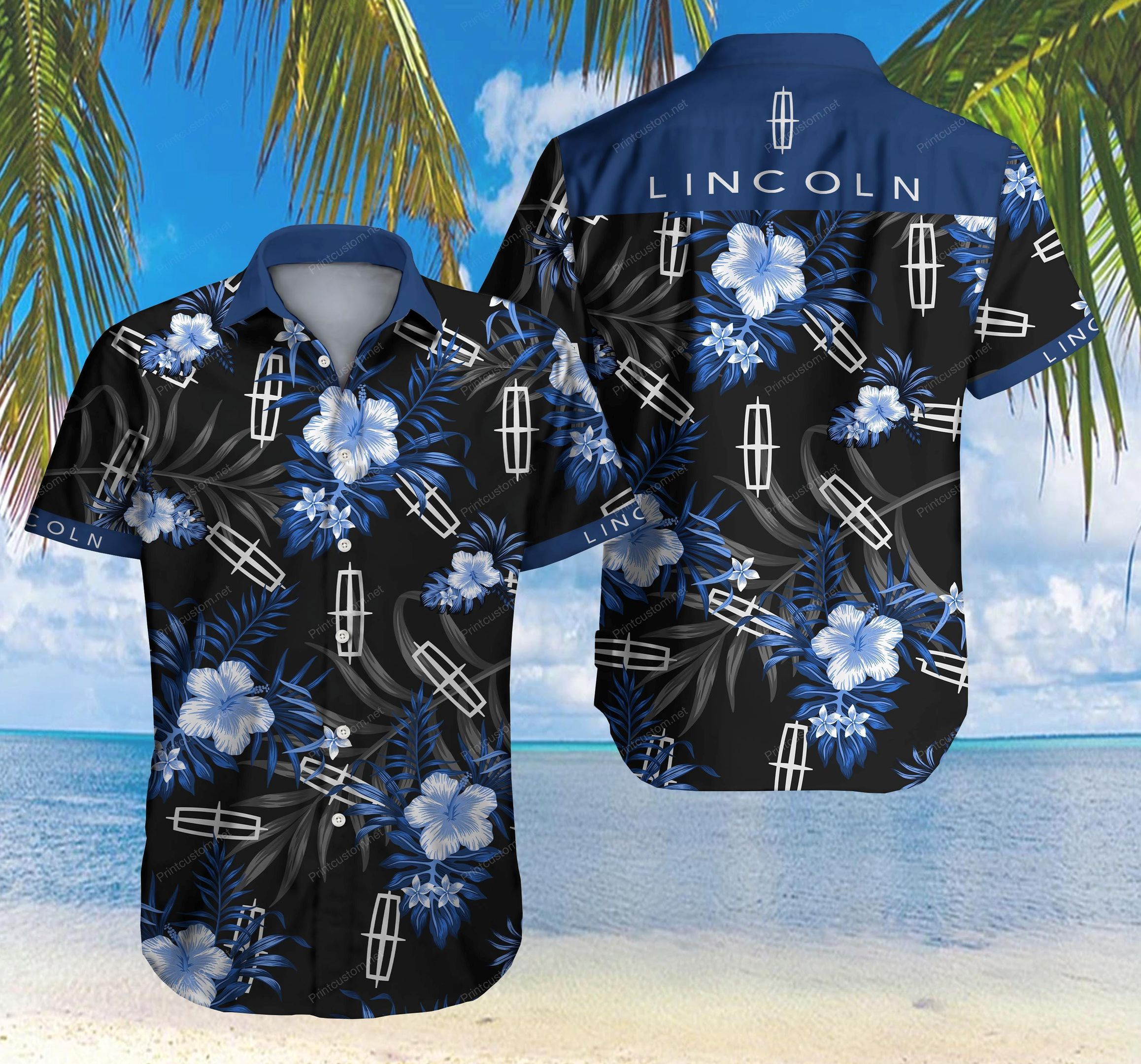 Lincoln Hawaii Shirt Ver 2 Summer Button Up