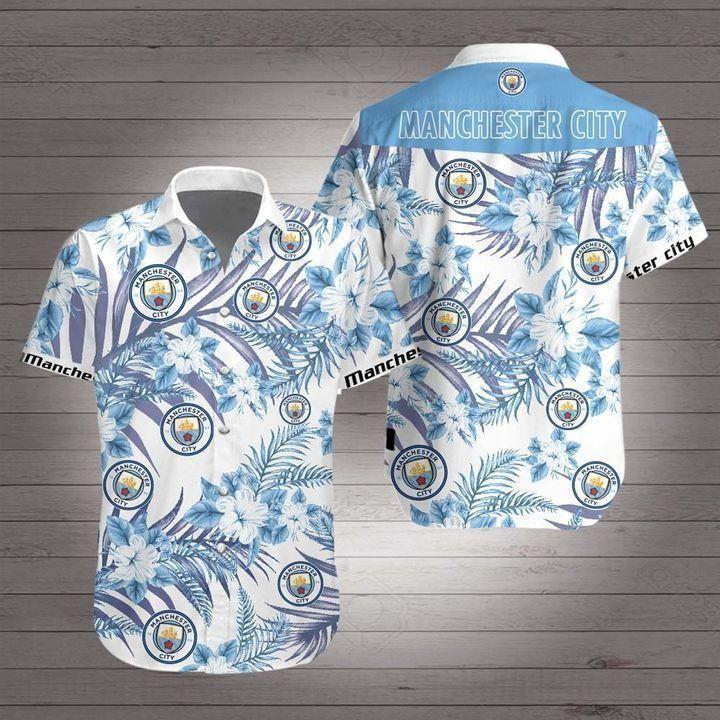 Manchester city Premier League football Hawaiian Shirt