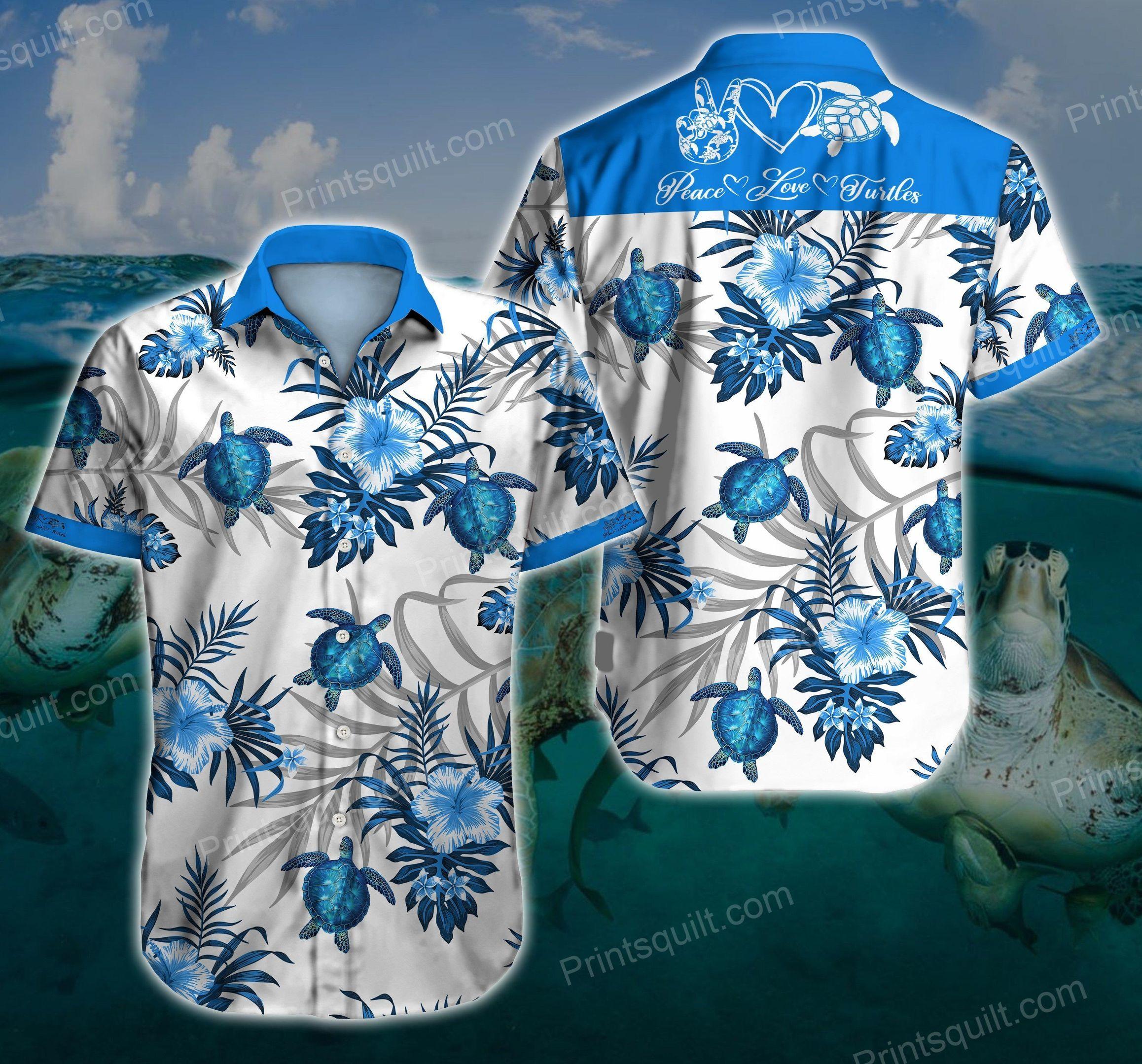 Turtle Love V1 3d Hawaii Shirt