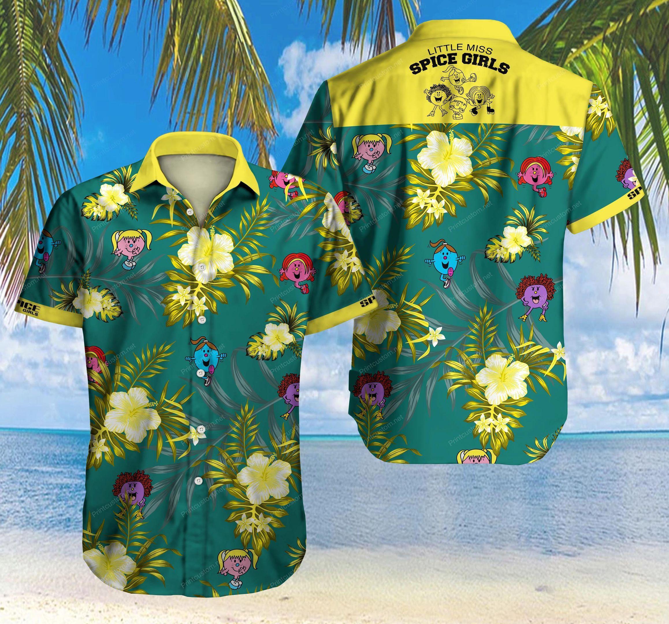Little Miss Spice Girls Floral Hawaiian Shirt Summer Shirt