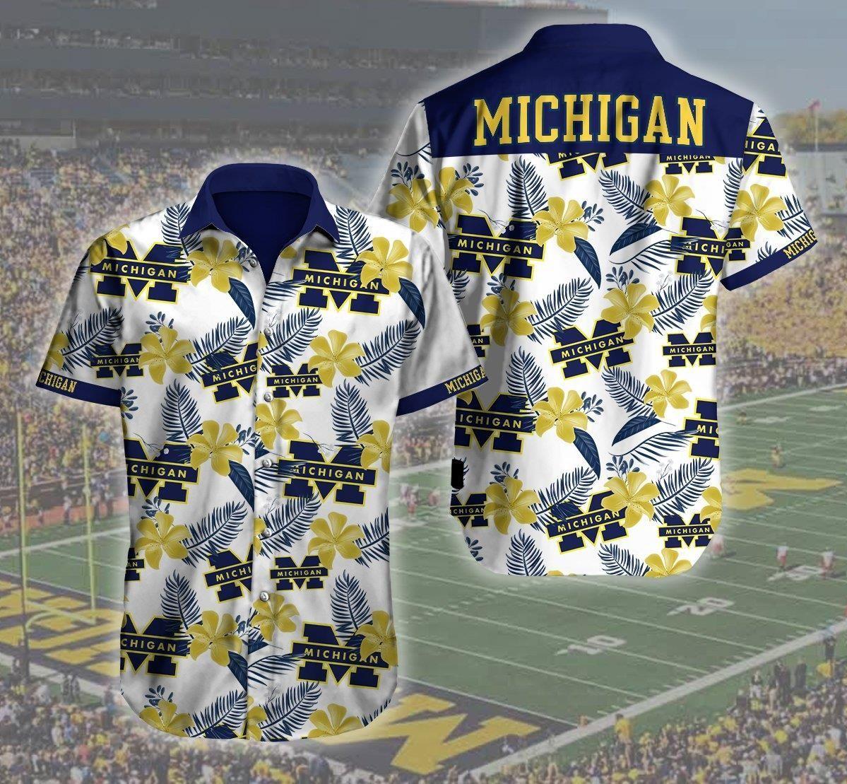 Michigan Wolverines Football Logo Hawaii Shirt